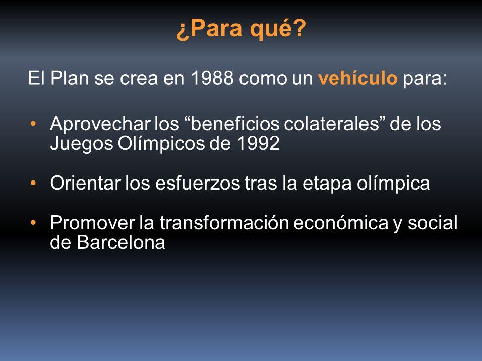 ¿Para qué El Plan se crea en 1988 como un vehículo para: