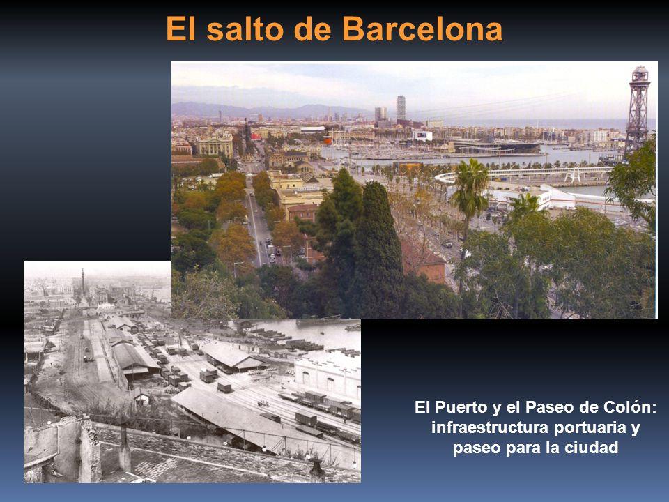 El salto de Barcelona El Puerto y el Paseo de Colón: infraestructura portuaria y paseo para la ciudad.
