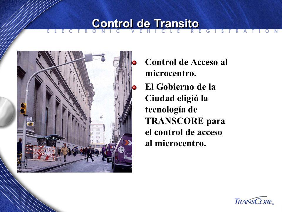 Control de Transito Control de Acceso al microcentro.