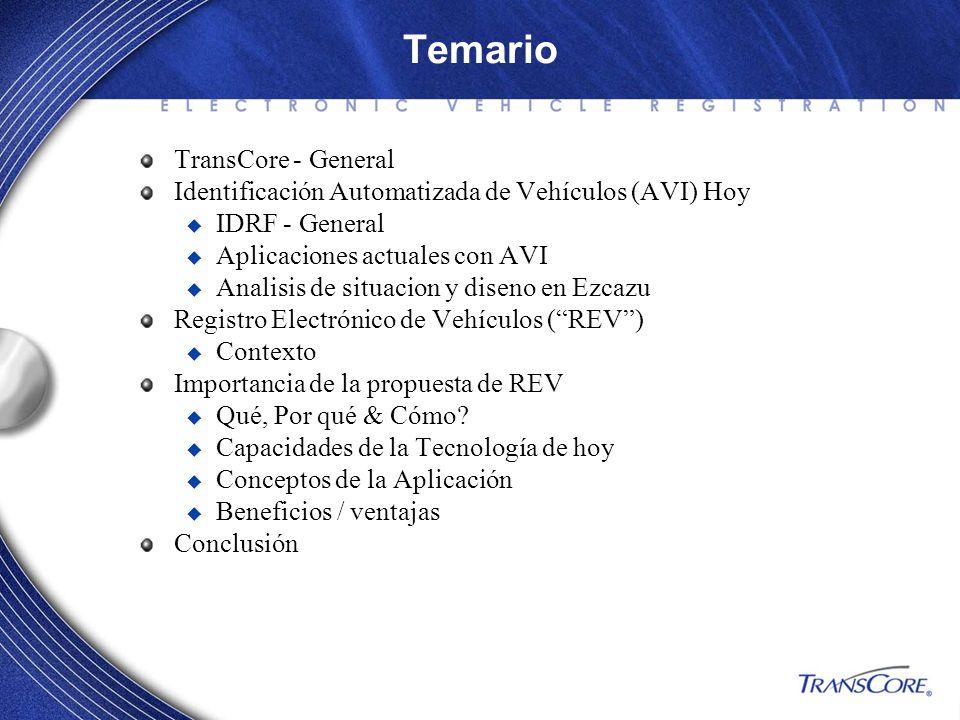 Temario TransCore - General