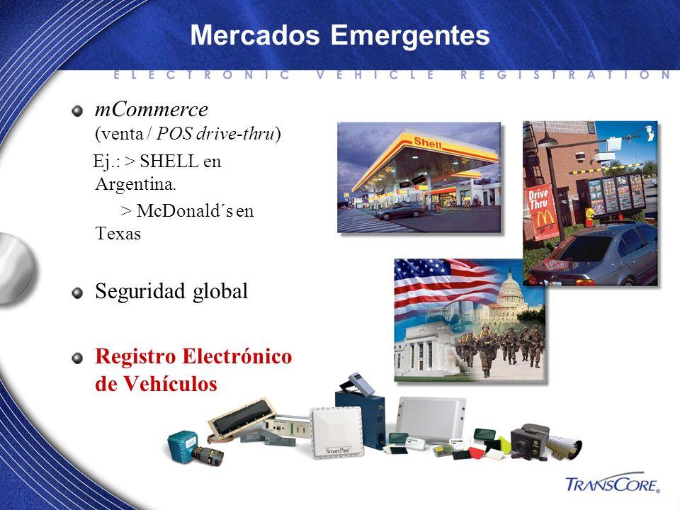 Mercados Emergentes mCommerce (venta / POS drive-thru)