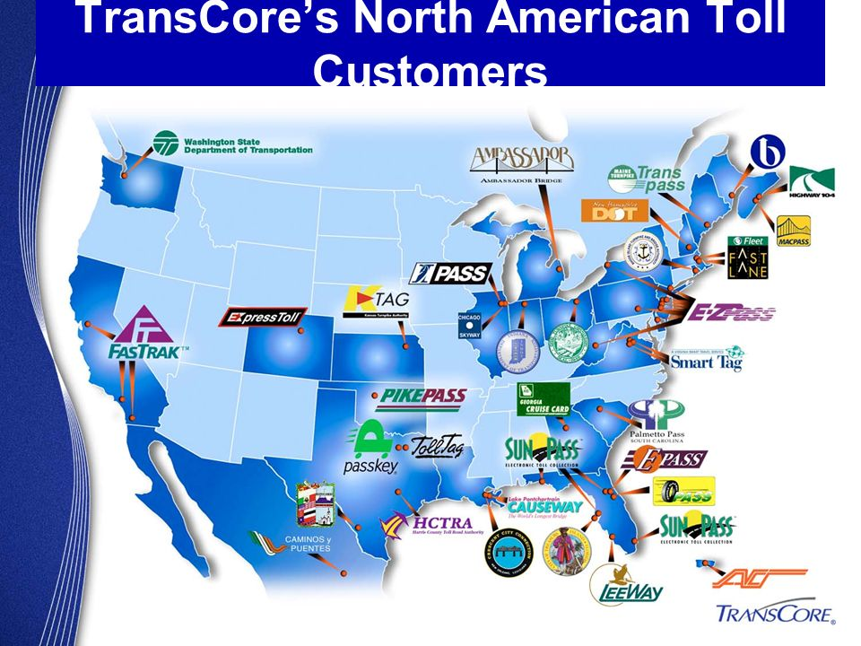 TransCore's North American Toll Customers