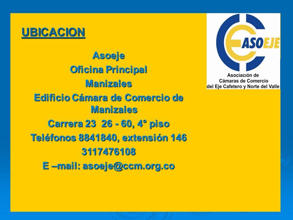 Edificio Cámara de Comercio de Manizales E –mail: asoeje@ccm.org.co