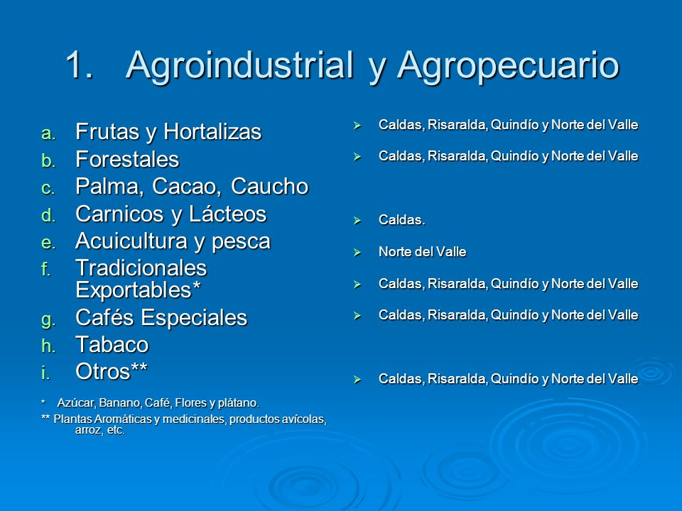 Agroindustrial y Agropecuario