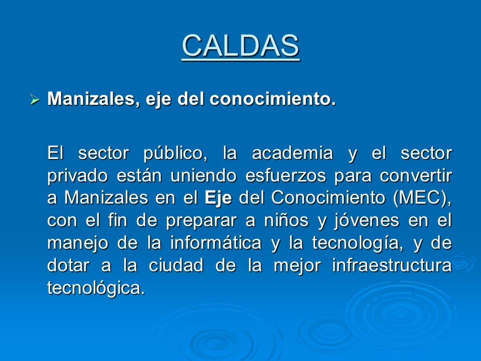 CALDAS Manizales, eje del conocimiento.
