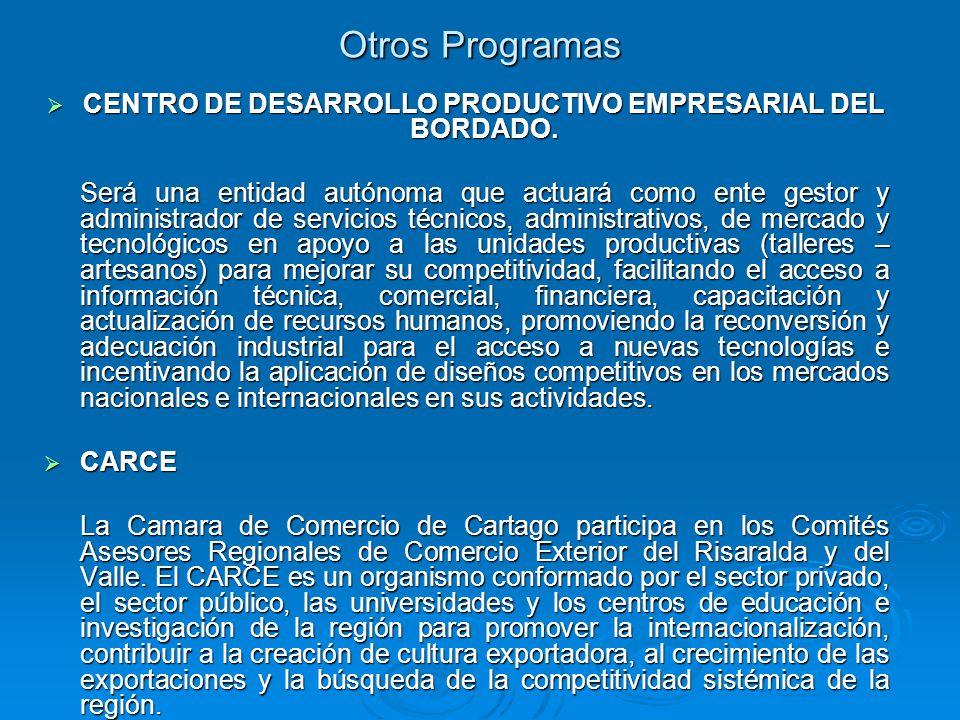 CENTRO DE DESARROLLO PRODUCTIVO EMPRESARIAL DEL BORDADO.