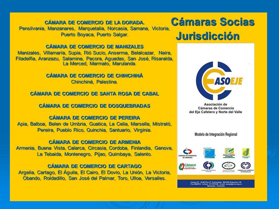 Cámaras Socias Jurisdicción