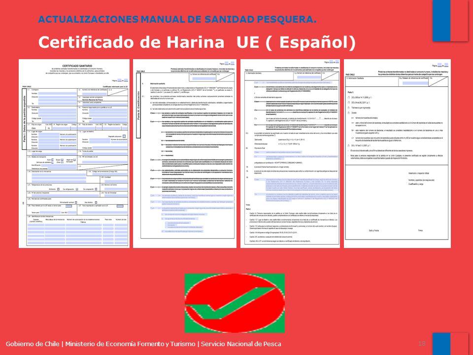 Certificado de Harina UE ( Español)