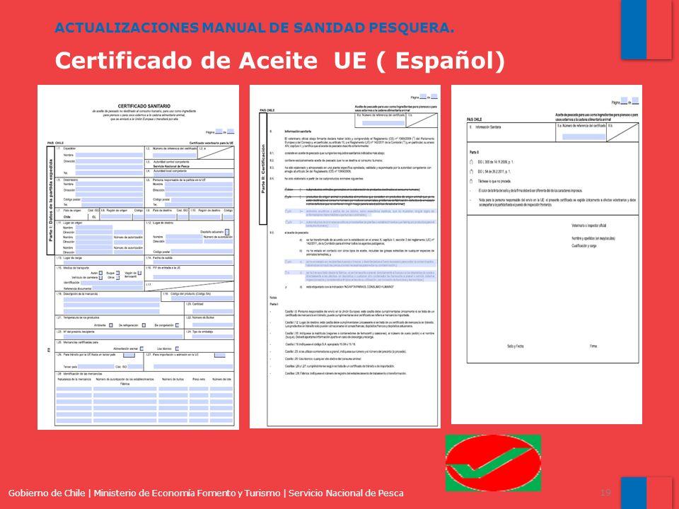 Certificado de Aceite UE ( Español)