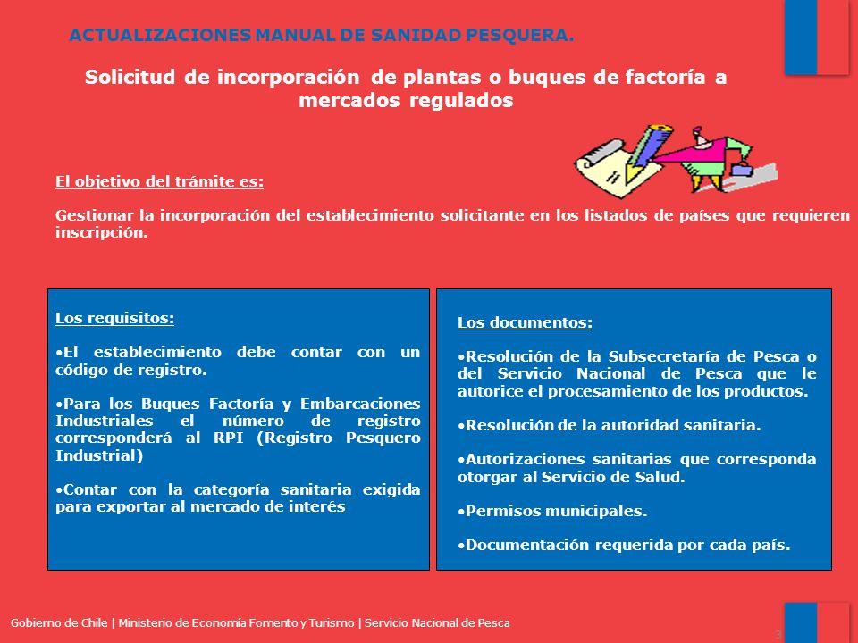 ACTUALIZACIONES MANUAL DE SANIDAD PESQUERA.