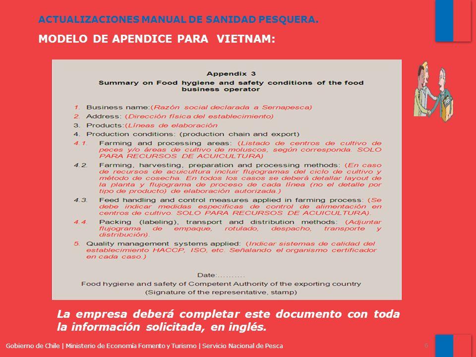 MODELO DE APENDICE PARA VIETNAM: