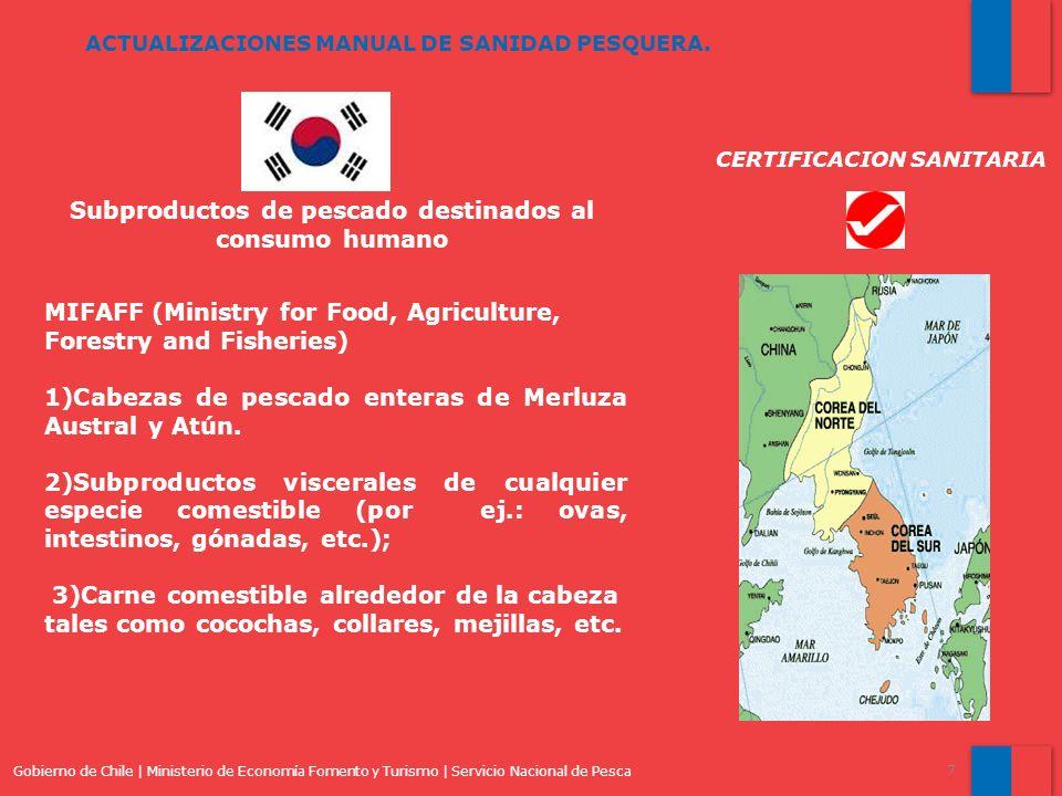 Subproductos de pescado destinados al consumo humano