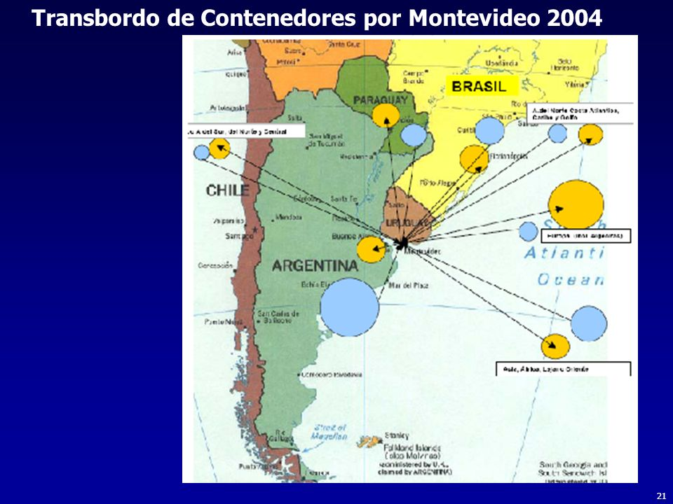 Transbordo de Contenedores por Montevideo 2004