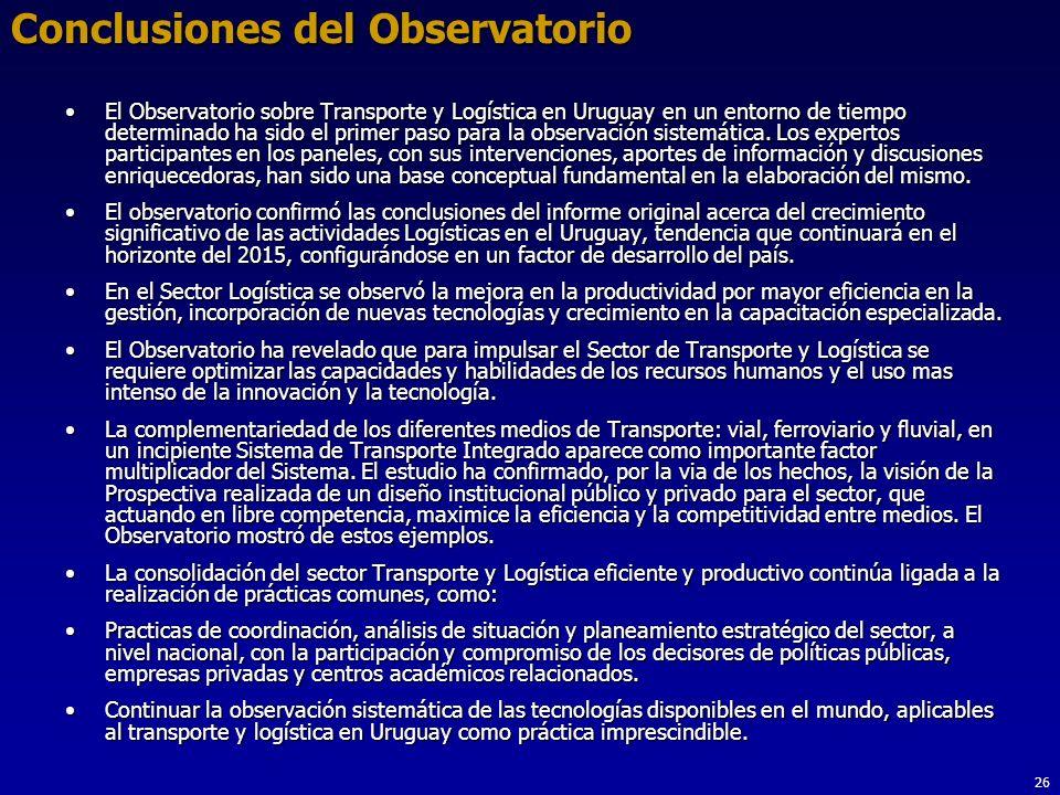 Conclusiones del Observatorio