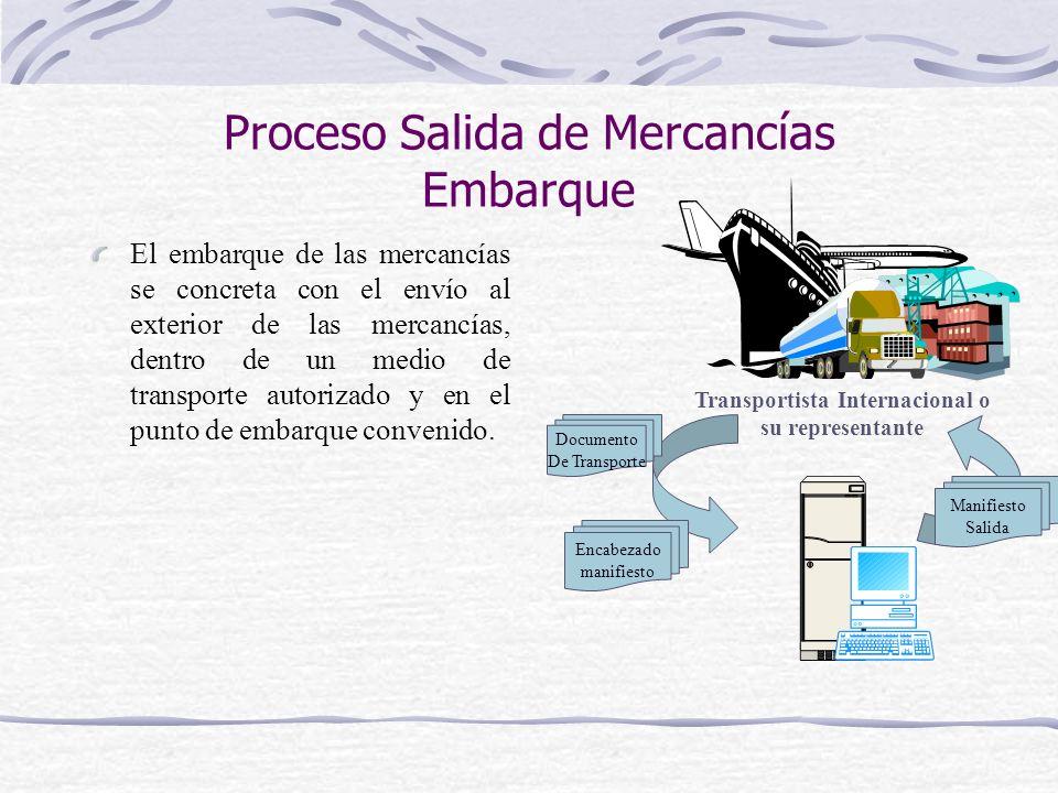 Proceso Salida de Mercancías Embarque