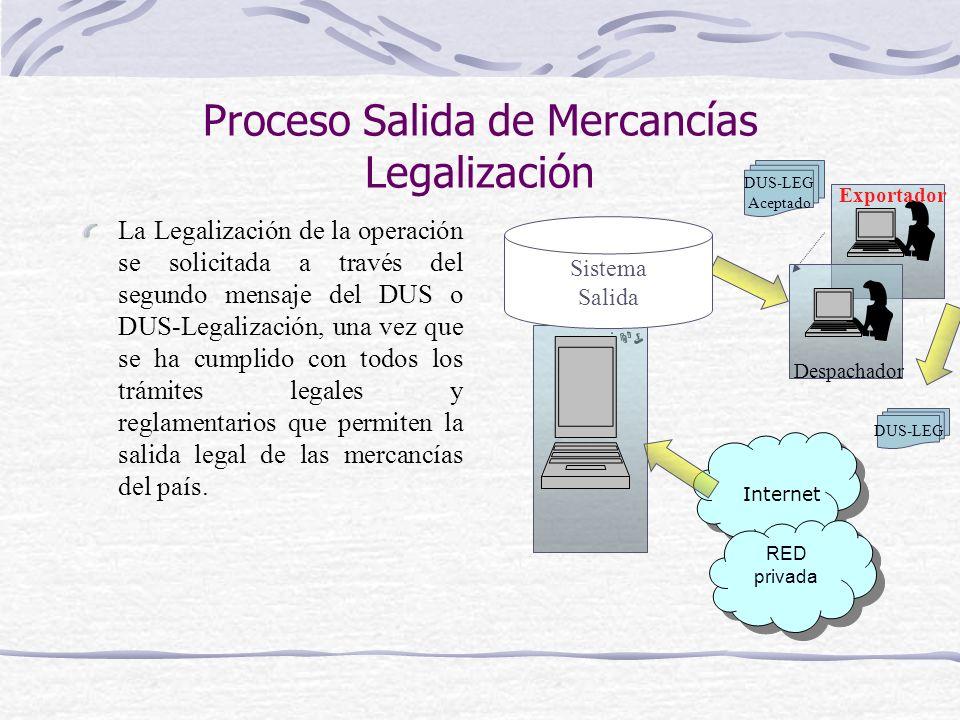 Proceso Salida de Mercancías Legalización