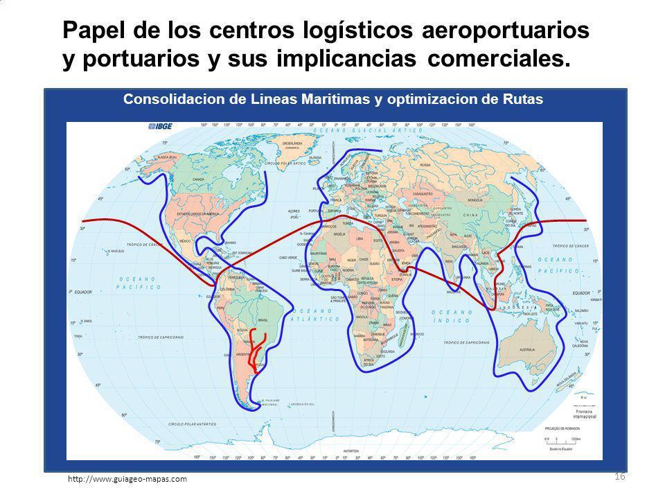 Papel de los centros logísticos aeroportuarios y portuarios y sus implicancias comerciales.