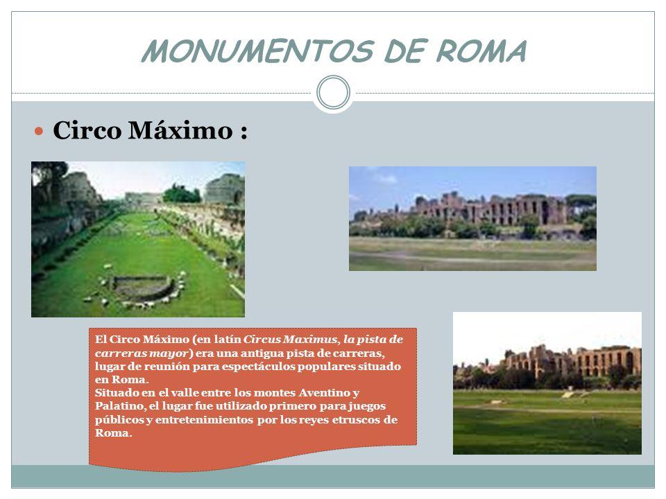 MONUMENTOS DE ROMA Circo Máximo :