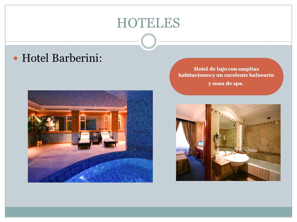 HOTELES Hotel Barberini: