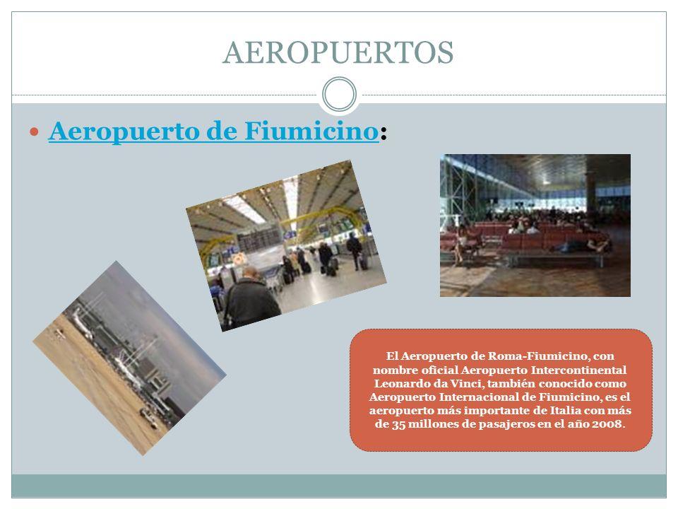 AEROPUERTOS Aeropuerto de Fiumicino: