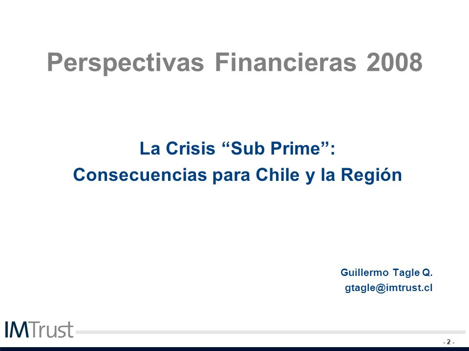 Perspectivas Financieras 2008