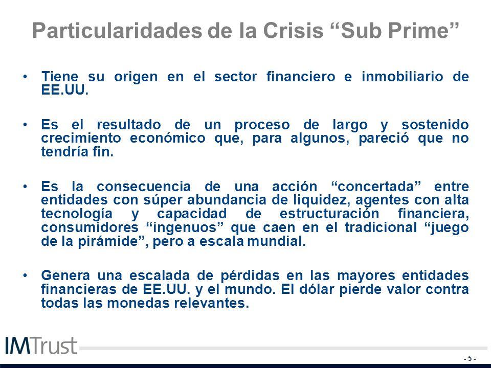 Particularidades de la Crisis Sub Prime