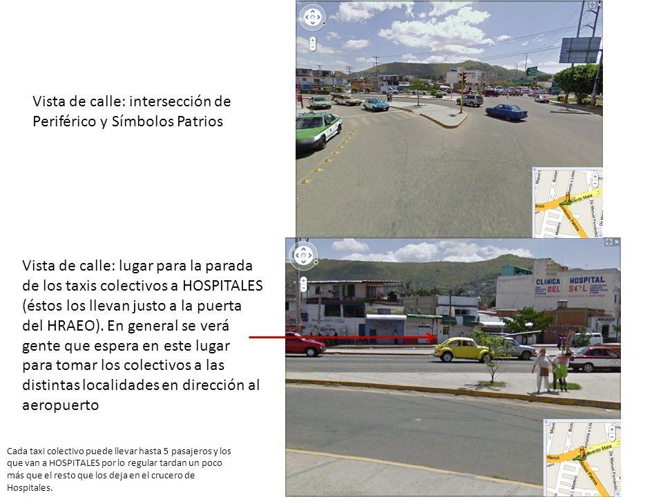 Vista de calle: intersección de Periférico y Símbolos Patrios