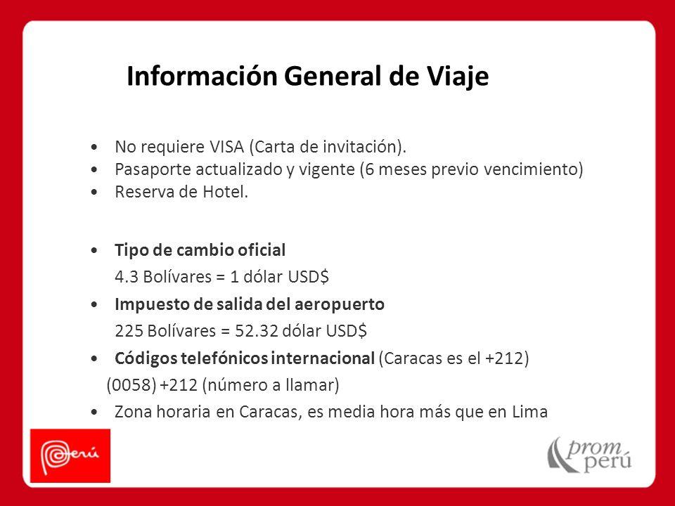Información General de Viaje