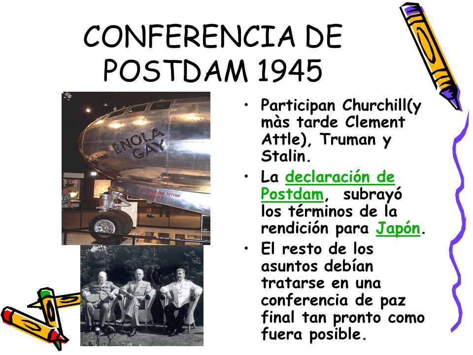 CONFERENCIA DE POSTDAM 1945