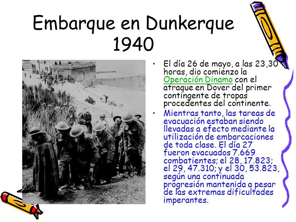 Embarque en Dunkerque 1940