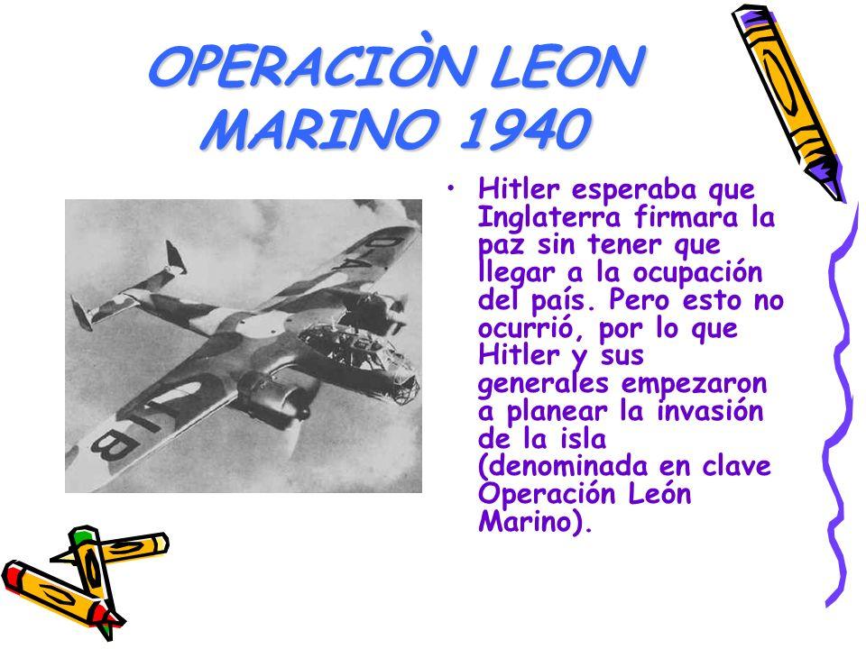 OPERACIÒN LEON MARINO 1940