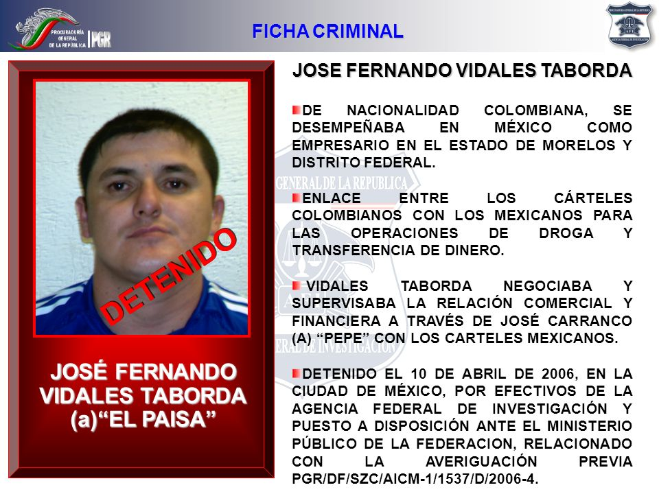 JOSE FERNANDO VIDALES TABORDA JOSÉ FERNANDO VIDALES TABORDA