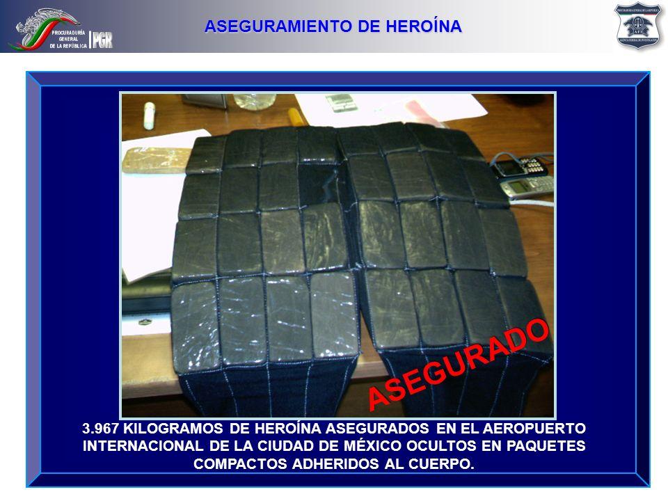 ASEGURAMIENTO DE HEROÍNA