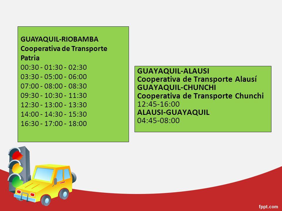 Cooperativa de Transporte Alausí GUAYAQUIL-CHUNCHI