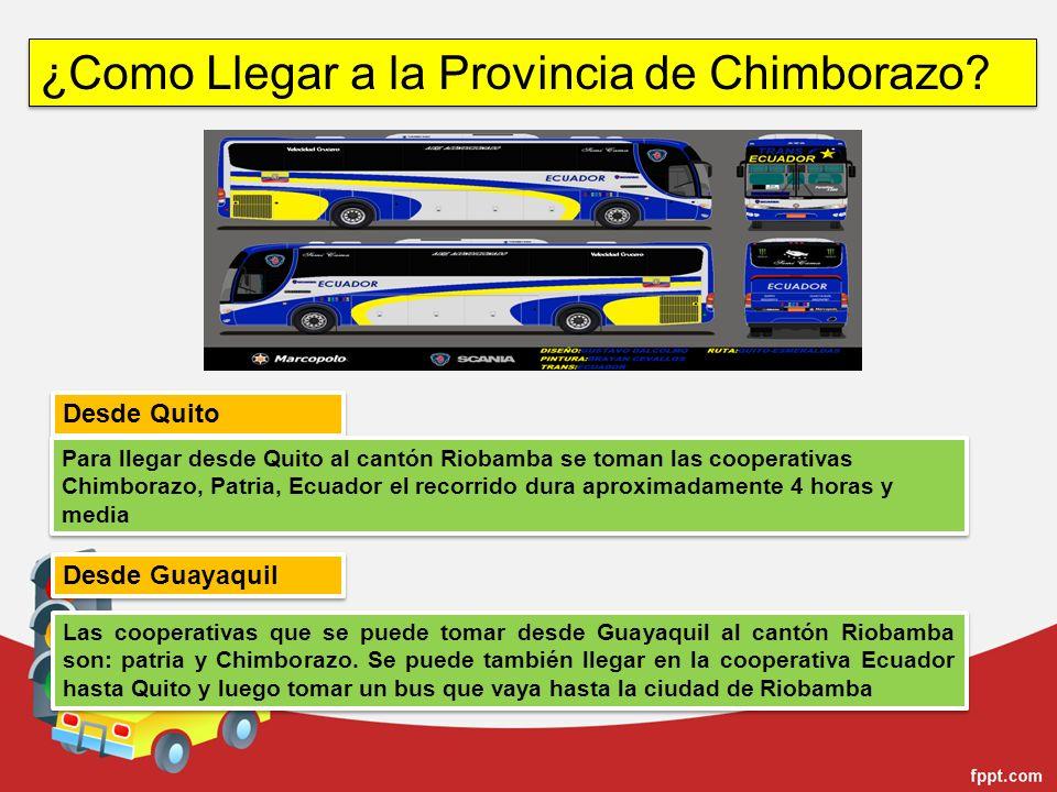 ¿Como Llegar a la Provincia de Chimborazo