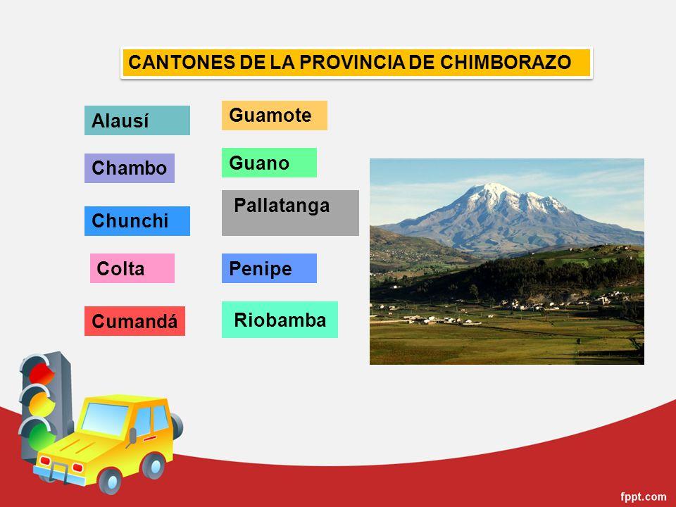 CANTONES DE LA PROVINCIA DE CHIMBORAZO