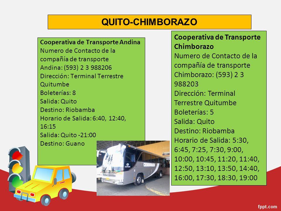QUITO-CHIMBORAZO Cooperativa de Transporte Chimborazo
