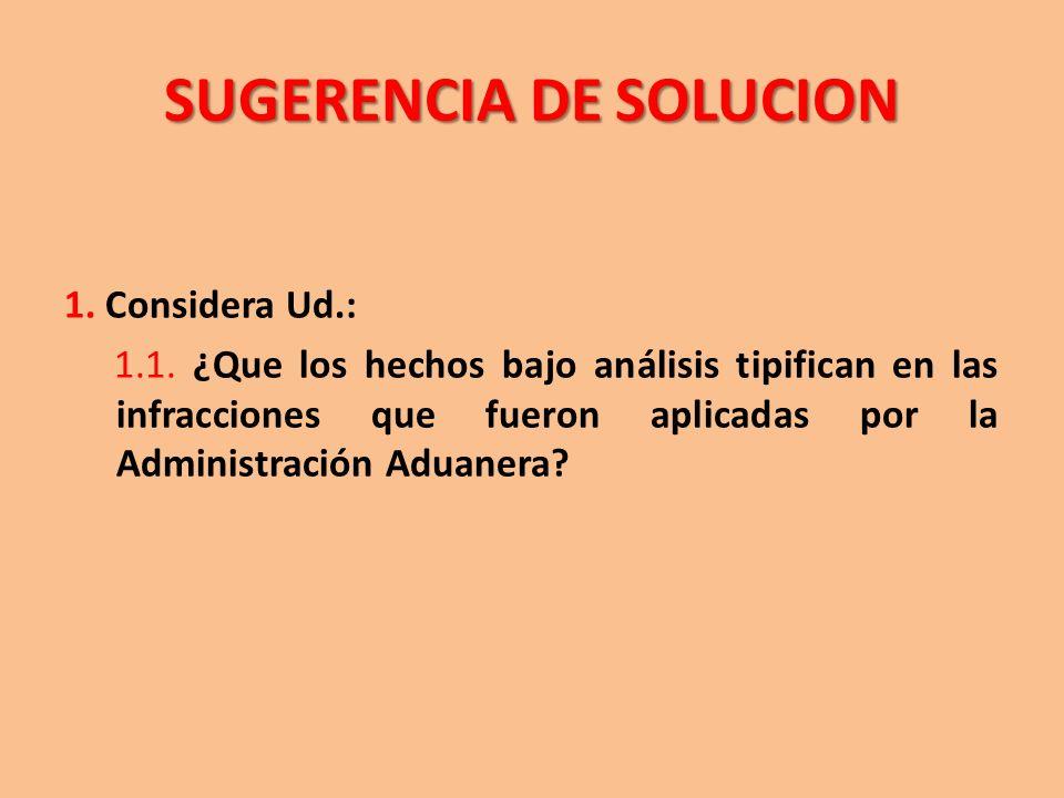 SUGERENCIA DE SOLUCION