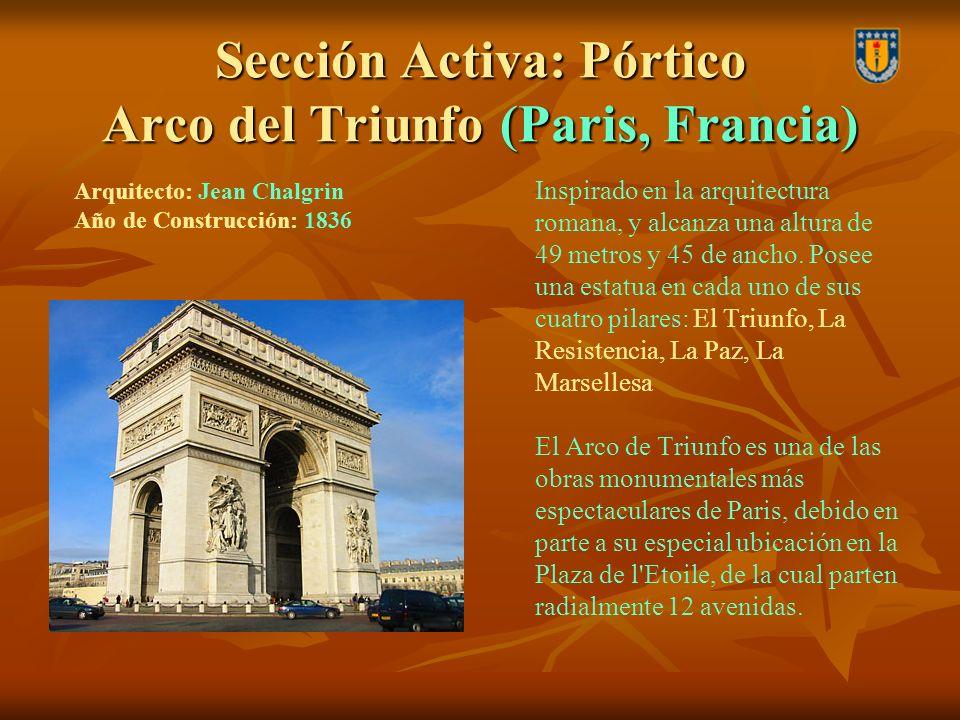 Sección Activa: Pórtico Arco del Triunfo (Paris, Francia)