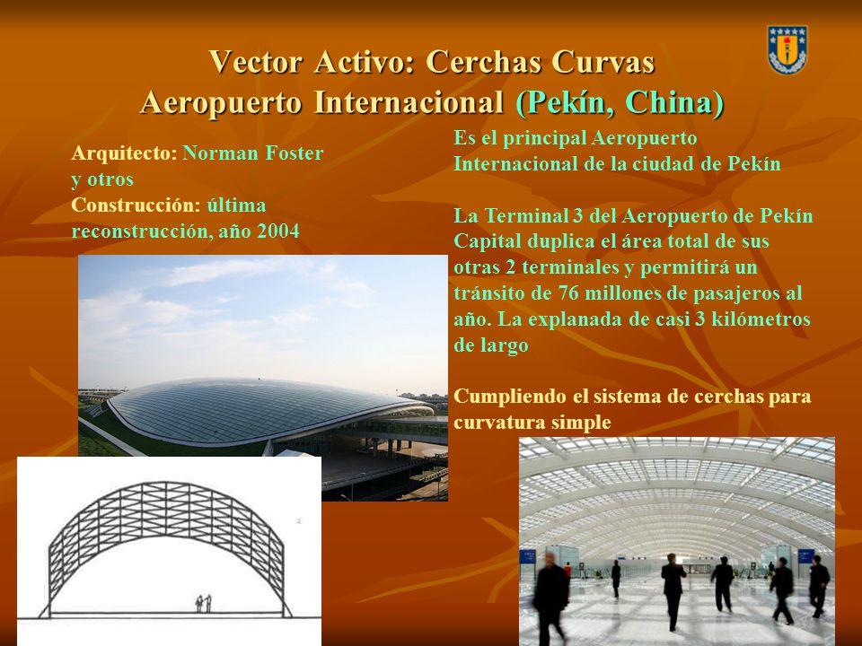 Vector Activo: Cerchas Curvas Aeropuerto Internacional (Pekín, China)
