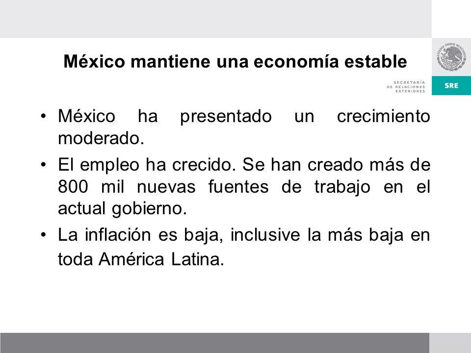 México mantiene una economía estable