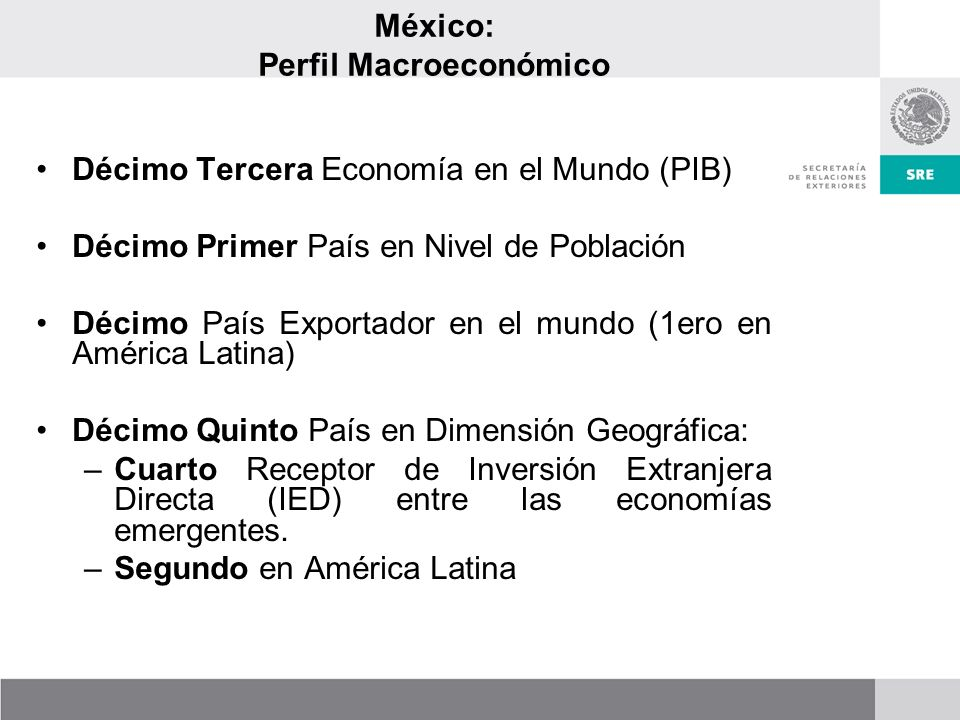 México: Perfil Macroeconómico