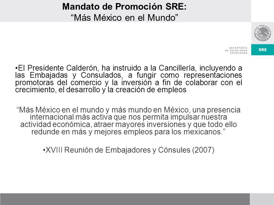 Mandato de Promoción SRE: Más México en el Mundo