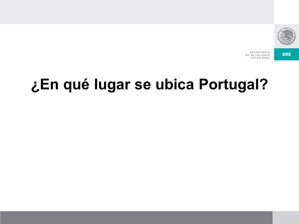 ¿En qué lugar se ubica Portugal
