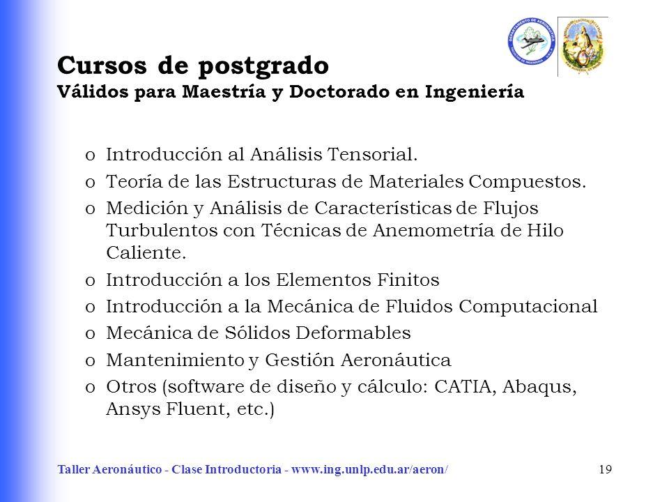 Cursos de postgrado Válidos para Maestría y Doctorado en Ingeniería