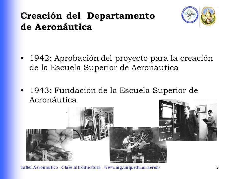 Creación del Departamento de Aeronáutica