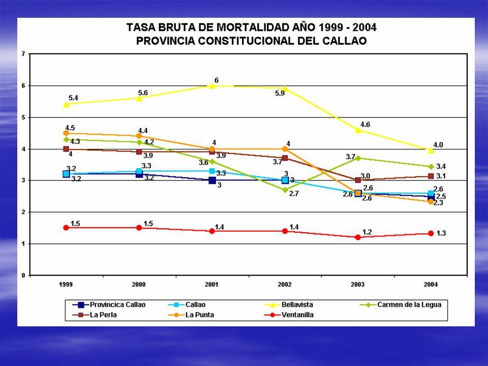TASA BRUTA DE MORTALIDAD AÑO 1999 - 2004