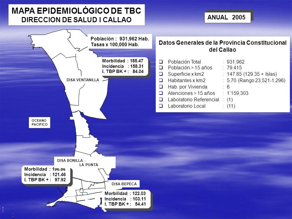 MAPA EPIDEMIOLÓGICO DE TBC