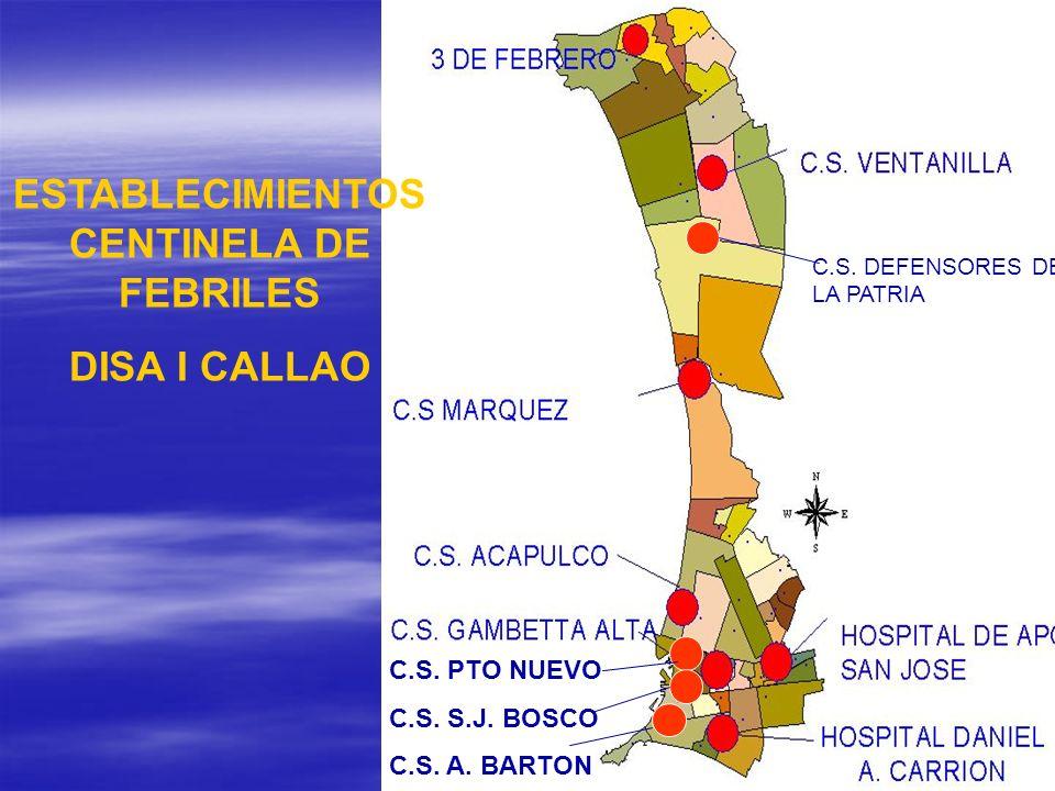 ESTABLECIMIENTOS CENTINELA DE FEBRILES