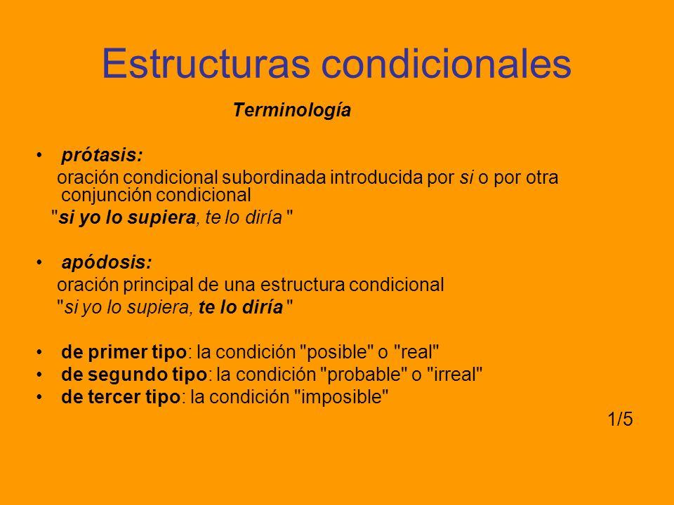 Estructuras condicionales